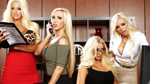 BigTitsAtWork - Courtney Taylor, Nikki Benz, Nina Elle And Summer Brielle - Office 4-play VI