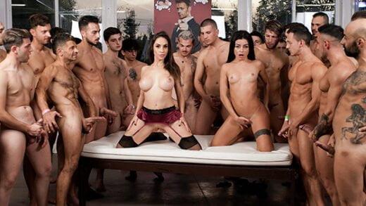[EvilAngel] Malena Nazionale, Martina Smeraldi (Martina & Malena's 2nd 69-Cock Orgy! / 10.21.2020)