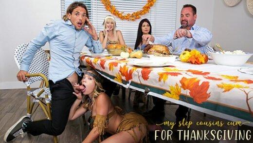 [MyFamilyPies] Jessie Saint, Katie Kush (My Step Cousins Cum For Thanksgiving / 11.14.2020)