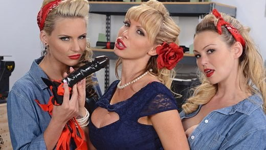HotAndMean - Nikki Benz, Abbey Brooks And Phoenix Marie - War Wives Get Wet