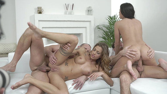 BangGlamkore – Eveline Dellai And Silvia Dellai – Twins Eveline And Silvia Dellai Get Anal Action In Studio Foursome, Perverzija.com