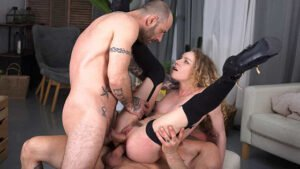 HandsOnHardcore – Heidi Van Horny – Two Cocks Up Her Pussy, Perverzija.com
