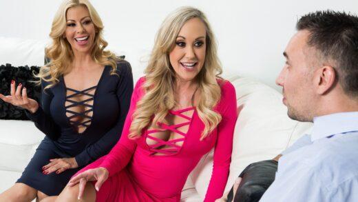 PornstarsLikeItBig - Brandi Love And Alexis Fawx - Internet Outage Poundage