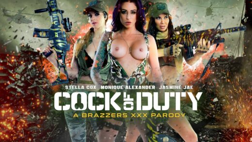 PornstarsLikeItBig - Monique Alexander, Stella Cox And Jasmine Jae - Cock Of Duty A XXX Parody