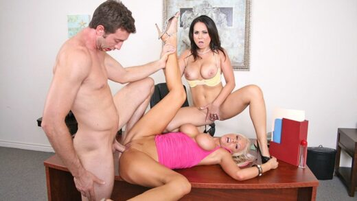 BigTitsAtWork - Holly West And Tanya James - Big Tits R Us