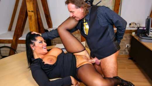 BumsBuero - Ashley Cumstar - Busty MILF Secretary Gives Titjob And Eats Cum In Hot German Office Fuck