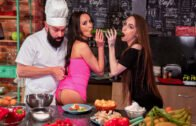 DoeProjects – Francys Belle And Angel Rush – Hot Threesome Sex In The Kitchen
