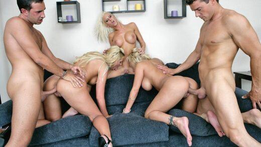 PornstarsLikeItBig - Shyla Stylez, Phoenix Marie And Krystal Steale - Big Dick Appetite
