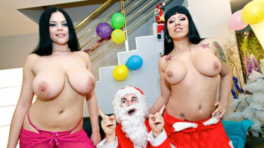 Cumlouder - Gigi Love And Shione Cooper - Santa takes a break to cum
