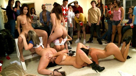 FuckTeamFive - Sara Jay, Jayden Jaymes, Alexis Fawx And Anastasia Morna - BangBros College Invasion