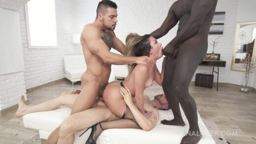 Legalporno - Martina Smeraldi is back with 3on1 anal fucking deep and hard AF007