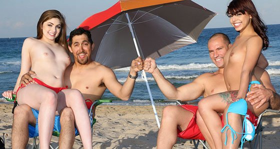 DaughterSwap – Gina Valentina And Kobi Brian – Beach Bait And Switch 2, Perverzija.com