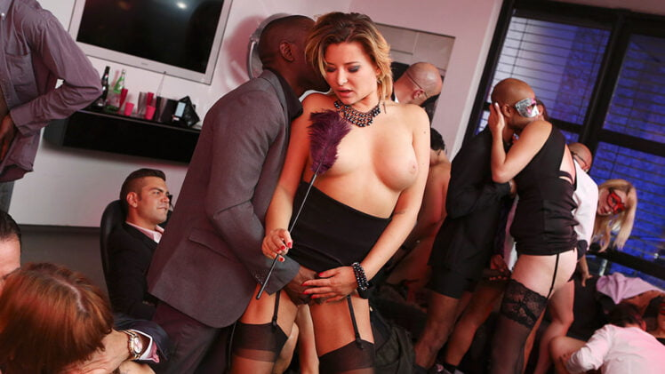 DorcelClub – Anna Polina, Marie Clarence And Mya Lorenn – 10 Hot Girls In A Huge Masked Orgy – My Real Swingers Orgy S01