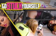 GoStuckYourself – Crystal Taylor And Angel Youngs – Stuck Under The Teachers Desk