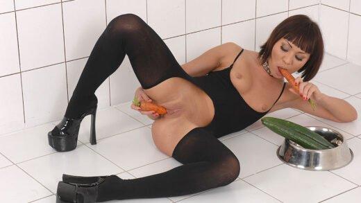 HouseOfTaboo - Monika - Nasty masturbation with vegetables