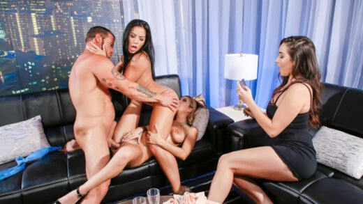 ScamAngels - Kat Dior And Morgan Lee - Wild FFM threeway fuck fest with hot American chicks