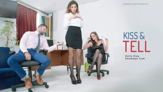 OfficeObsession - Penelope Cum And Holly Kiss - Kiss And Tell