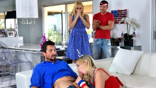 FamilyStrokes - Sarah Vandella And Zoey Parker - I Pledge Allegiance To My Father Figures Cock