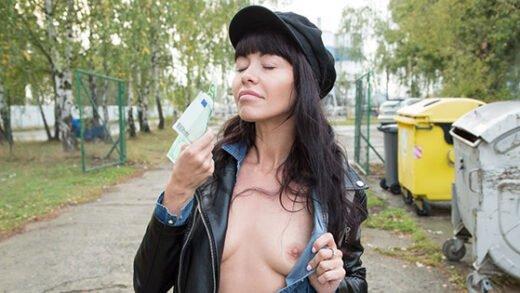PublicAgent - Sasha Colibri - Mouthful Of Cum For Sexy Brunette
