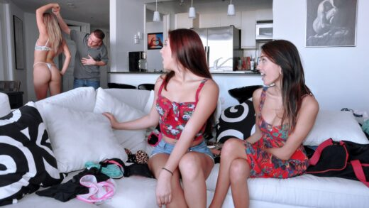 RealSlutParty - Janice Griffith, Kiara Knight And Belle Sparkles - Sexy Send-Off
