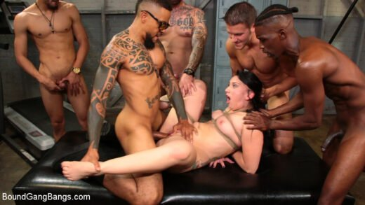 BoundGangbangs - Mandy Muse - Mandy Muse Gets Her Big Ripe Ass Bound Up And Gangbanged