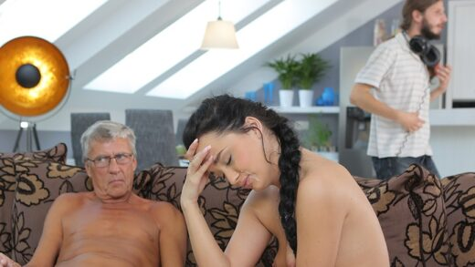 Daddy4K E07 Erica Black - What would you prefer - computer or your girlfriend? And she?