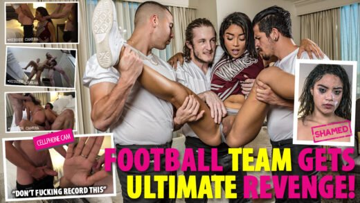 ShamedSluts - Maya Bijou - Cheerleader Gets Tagged Teamed By Her Cuckold BF And His Friends