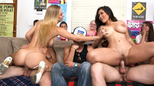 DormInvasion - Rachel Starr, Jessica Bangkok, Luna Star And Natalia Starr - Fucking Porn-Stars At A Dorm Party