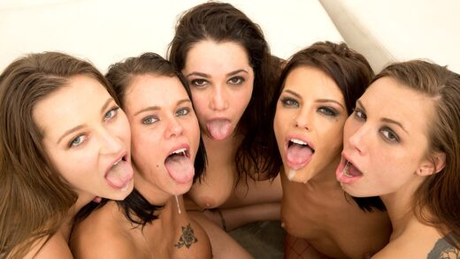 JulesJordan - Peta Jensen, Dani Daniels, Adriana Chechik, Aidra Fox And Karlee Grey - Orgy Masters Sex Party, Their Tongues Are Out, They Need More Cum In Their Mouth! - Orgy Masters 7 S02