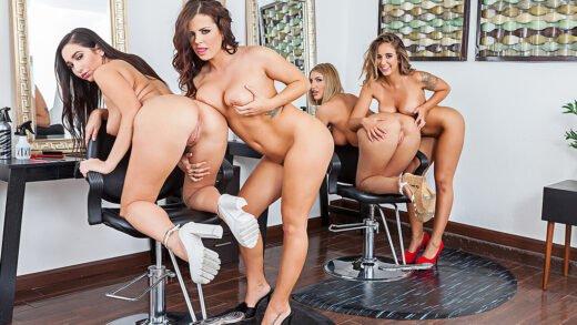 NaughtyAmericaVR - August Ames, Karlee Grey, Keisha Grey And Layla London - Sizzer Sisters