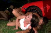 SummerSinners – Daisy Lee, Wendy Moon, Amirah Adara And Chrissy Fox – Outdoor Fuck At Night