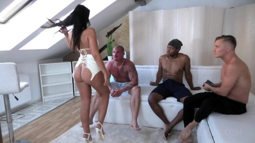 LegalPorno - Jennifer Mendez - Dancer Jennifer Mendez anal fucked hard by 3 Guys with DP, Ass to mouth, Rimming NF038