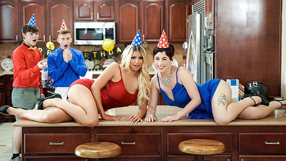 MomSwap – Brooklyn Chase, Olive Glass Birthday Swap Surprise