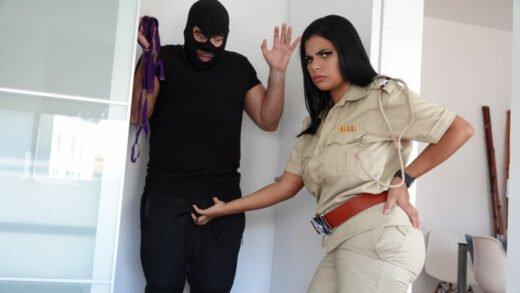 NiksIndian - Thief Fuckss Big Boobs Lady Police Officer