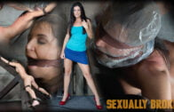 SexuallyBroken – India Summer – Hot MILF India Summer's is strapped to and 'X' frame, hooded, gagged, and brutally fucked!