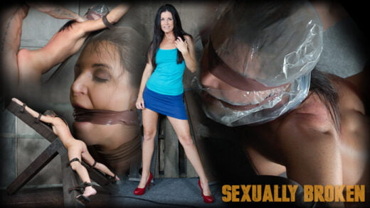 SexuallyBroken - India Summer - Hot MILF India Summer's is strapped to and 'X' frame, hooded, gagged, and brutally fucked!