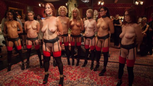 TheUpperFloor - Bella Rossi, Casey Calvert, Alani Pi, Penny Barber, Dylan Ryan, Beretta James, Nikki Darling, Simone Sonay And Penny Pax - Masquerade Orgy With Nine Slaves, 100 Horny Guests, Part One