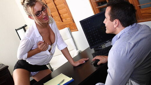 XXXAtWork - Hailey Holiday - Fucking The Boss At Work To Get To The Top