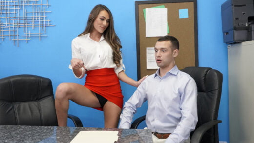 BangTrickery - Mackenzie Mace Doesn't Land The Job But She Lands Up And Down On The Dick