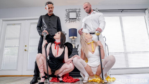 DaughterSwap - Gracie Gates And Madison Summer - A Hellish Daughter Swap