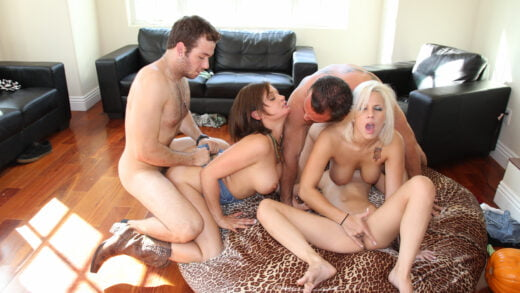 FuckTeamFive - Tory Lane, Lylith Lavey And Presley Hart - Pumpkin Patch Fucking