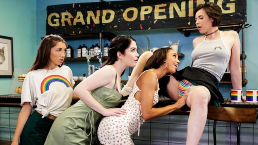 GirlsWay - Casey Calvert, Evelyn Claire, Maya Woulfe And Alexis Tae - Grand Opening