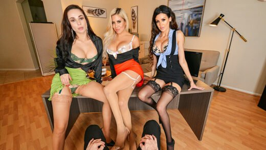 NaughtyAmericaVR - Caitlin Bell, Crystal Rush And Jamie Michelle - The Office 13