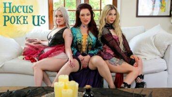 NubilesET – Haley Spades, Jessica Ryan And Kenzie Reeves – Hocus Poke Us